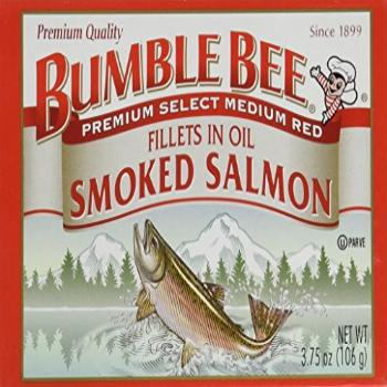 Bumble Bee Smoked Salmon Fillets in Oil 3.75oz can (Pack of