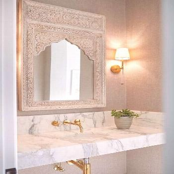 Luxury bathrooms 811140582872145809 -  Stunning bathroom design featuring a Moroccan style carved w