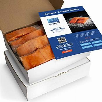 PrimeWaters Coho Salmon from Chile, 5 ounces, Frozen (28