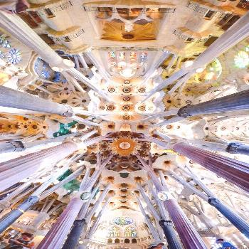Roof of the Church of the Sagrada.  Pictures just can't convey the unusual and stunning beauty of t
