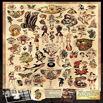 Sailor Jerry Tattoo Flash (Style A) Poster 24x36quot (60.96 x
